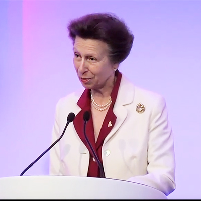 HRH The Princess Royal speaking at UKWA's 75th Anniversary Lunch & Awards