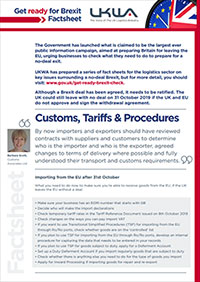 Customs,Tariffs & Procedures Factsheet