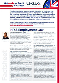 HR & Employment Law Factsheet
