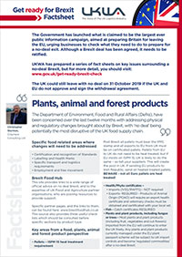 Plant, Animal & Forest Products Factsheet